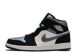 Air Jordan 1 Mid SE Satin Black Smoke Grey 852542-011 Basket