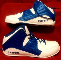 AND 1 Men's Rocket 4.0 Basketball Shoe, White/Royal White, 1