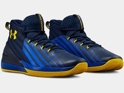 2018 Under Armour Mens UA Lockdown 3 Basketball Blue/Gold Cu