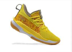 2020 NEW Men's yellow Under Armour Curry 7 Training Basketba