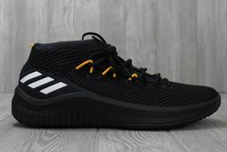 32 Adidas Dame 4 Black Yellow Lakers PE Basketball Shoes AC7