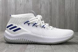 detailed look 22898 8dec9 33 New Adidas Dame 4 Basketball Shoes White Blue Men s Size