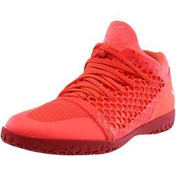 PUMA Men's 365 Netfit CT Soccer Shoe, Fiery Coral White-Tore