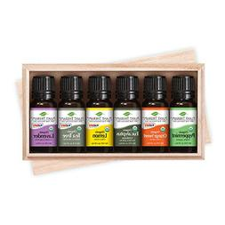 Plant Therapy Top 6 Organic Essential Oils Set | Lavender, P