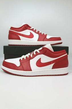 Air Jordan 1 Low Gym Red White 553558-611 Basketball Shoes M
