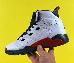 Air Jordan 6-17-23  White Gym Red Black Boys Basketball Shoe