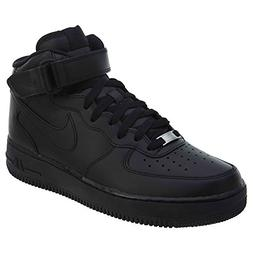 NIKE Mens Air Force 1 Mid 07 Basketball Shoes Black/Black 31