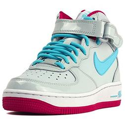 Nike air force 1 mid gs youth grey blue pink Size 5 Big Kids