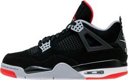 Air Jordan 4 Bred Retro IV OG Black Cement Red 308497 060