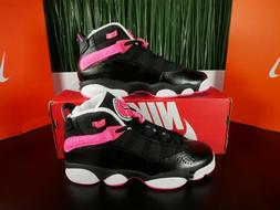 Nike Air Jordan 6 Rings GS Black Hyper Pink Basketball Shoes