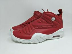 new arrival 79235 69a8d Nike Air Shake Ndestrukt Men s Red Leather Basketball Shoes