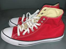 CONVERSE ALL STAR CHUCK TAYLOR RED CANVAS BASKETBALL SHOES S