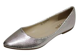 Bella Marie Angie-101 Women's pointy toe boat slip on patent