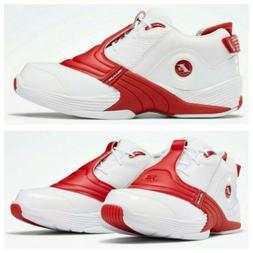 Reebok Answer 5 White Red DMX Iverson Men's Basketball Shoes