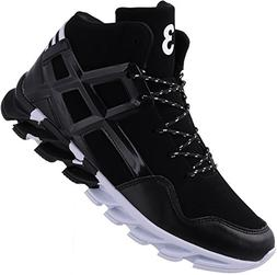JOOMRA Mens Fashion Athletic Ankle Shoes Black for Young Man