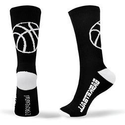 ChalkTalkSPORTS Athletic Half Cushioned Crew Socks | Basketb