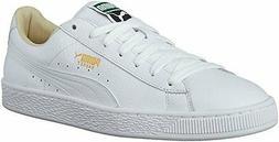 PUMA Men's Basket Classic Lfs Fashion Sneaker, White-White,