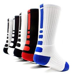 Men's Sports Socks Basketball Football Athletic Crew by JiYe