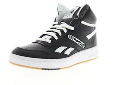 Reebok BB 4600 EH2136 Mens Black Leather Lace Up Athletic Ba