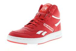Reebok BB 4600 EH2137 Mens Red Leather Lace Up Athletic Bask