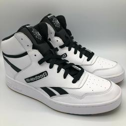 Reebok BB 4600 Mens Basketball Shoes White/Black Laced Up Hi