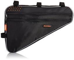 Ibera Bicycle Triangle Frame Bag, Strap-On Bike Top Tube Pou