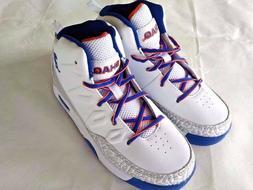 Shaq Boys Athletic Hi Top Shoes Youth Basketball White Blue