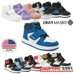 DREAM PAIRS Kids Boys Girls High Top Sneaker Youth Fashion B
