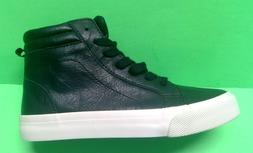 Boys Size 2,3 BLACK Sneakers Hi Tops OLD NAVY Youth Basketba
