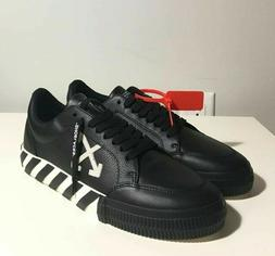 Brand-new Men's Off-White Black Vulcanized Low-top Leather S