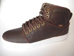 BRAND NEW VANS Size 9 Brown Leather White High top Basketbal