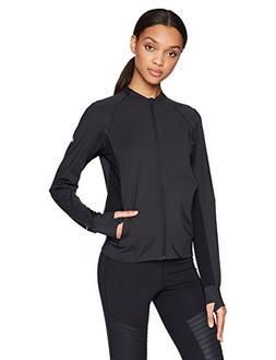 ASICS Women's Breeze Knit Jacket, Performance Black, Medium