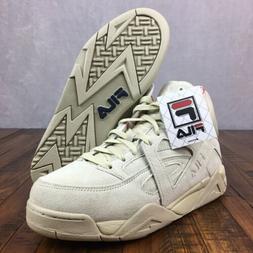 FILA CAGE Basketball Shoes Suede Cream 1VB90129-921 Mens Siz