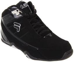 Fila Kid's Change The Game Basketball Sneaker, Black/Black/M