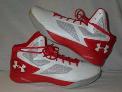 Under Armour Clutchfit Drive 2 Basketball Shoes White/RED 12