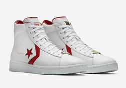CONVERSE PRO LEATHER MID THE SCOOP MEN'S SHOES  WHITE/RED DR