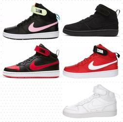 Nike Court Borough 2 Mid Basketball Shoes Sneakers Kids Boys