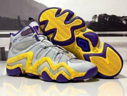Adidas Crazy 8 Basketball Shoes Grey/Yellow/Purple Jeremy Li