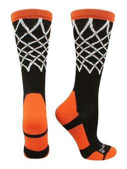 MadSportsStuff Crew Length Elite Basketball Socks with Net B