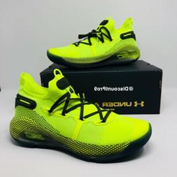 "Under Armour Curry 6 ""Coy Fish"" 3020612-302 Yellow Baske"