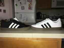 Adidas Daily 2.0 Basketball Shoes White/Gum and Black/Gum