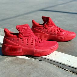 adidas Dame 3 BB8337 Lillard Roots Red Basketball Shoes Port