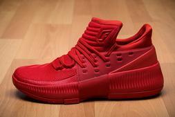 adidas Dame 3 Roots sz 14 BB8337 Red Damian Lillard Portlant