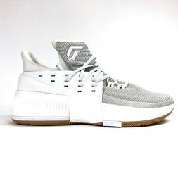 Adidas Dame 3 White Grey Gum BW0323 Mens Size 10.5 Basketbal