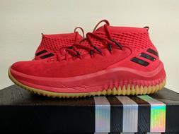 f44b84138db3 Adidas Dame 4 Basketball Shoe Red Black Gum Damian Lillard