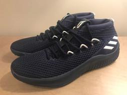 best value 78743 28f01 Adidas Dame 4 Lillard Navy Blue White Mens Basketball Shoes