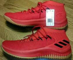 Adidas Dame 4 Lillard Red/Black 'Glow Gum Soles!' CQ0186 Bas