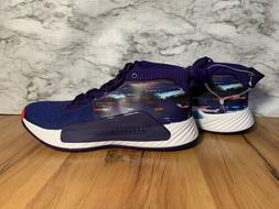 adidas Dame 5 Purple Blue Red White EF0500 Lillard Basketbal