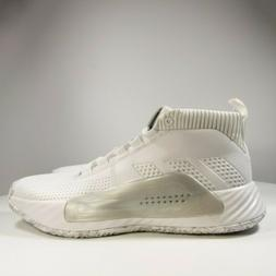 Adidas Dame 5 Team Footwear White Basketball Shoes White Gre