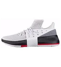 adidas Dame 3 White/Black/Red Basketball Shoes 13